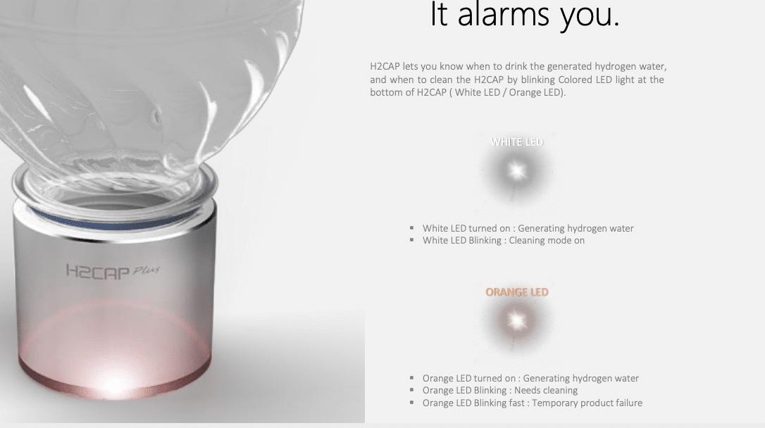 H2CAP Plus gebruikersgemak draagbare water ionisator
