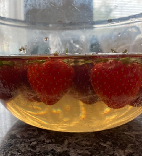 Fruit wassen in Alkaline water
